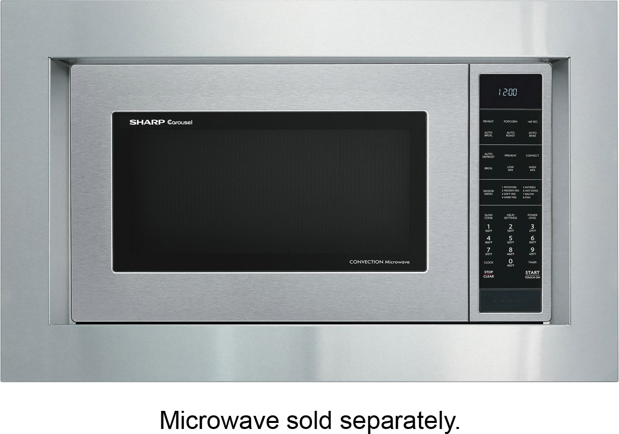 sharp microwave oven trim kit for carousel smc1585bs microwave stainless steel