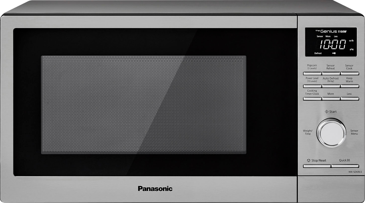 panasonic 1 3 cu ft microwave with sensor cooking stainless steel
