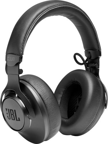 JBL - Club ONE Wireless Noise Cancelling Over-the-Ear Headphones - Black