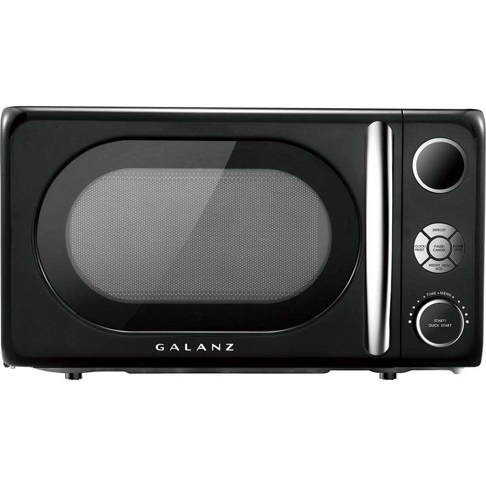 galanz retro 0 7 cu ft microwave vinyl black