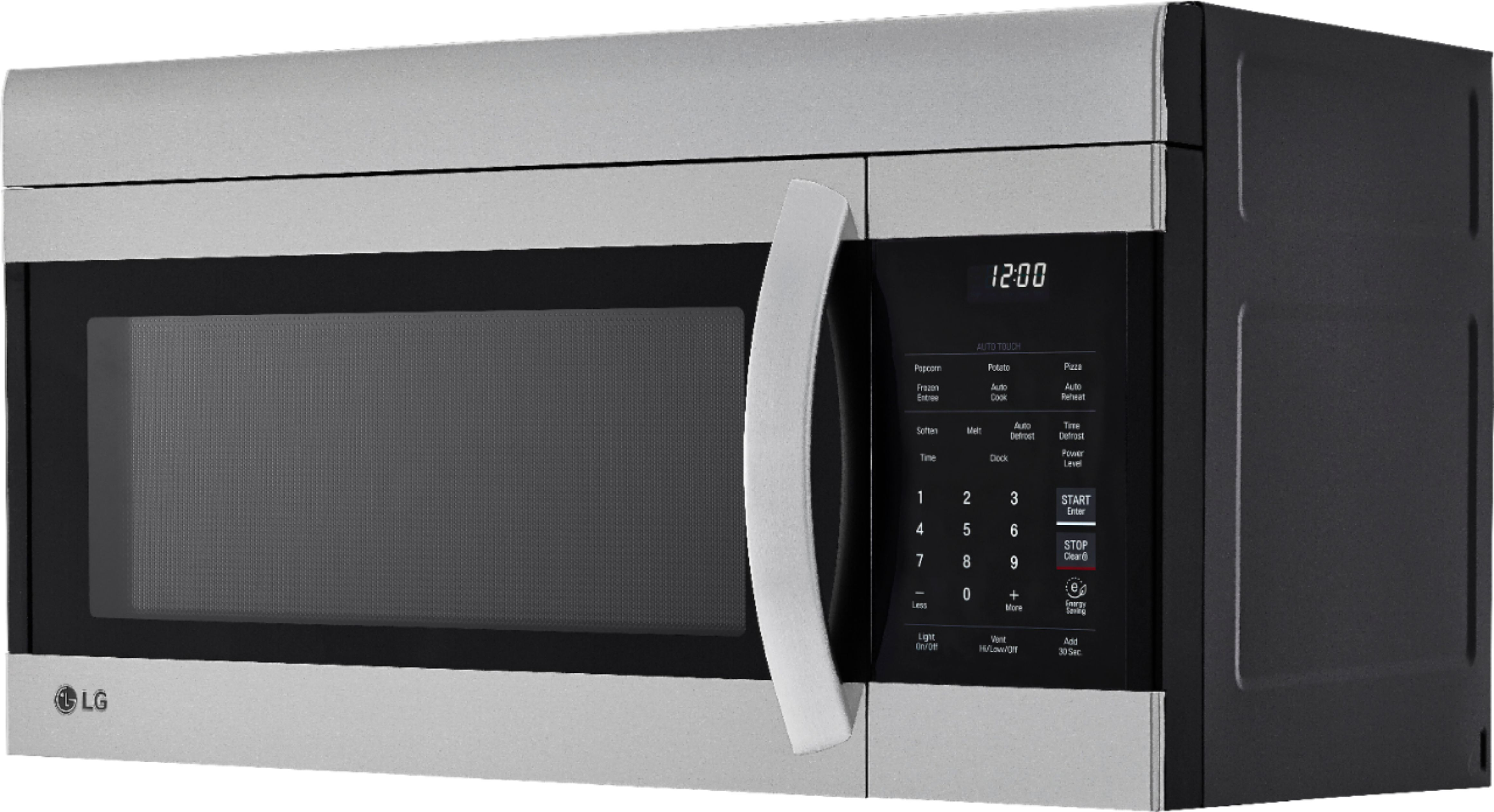 lg 1 7 cu ft over the range microwave with easyclean stainless steel
