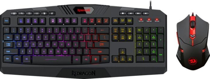 Redragon S101 3 Wired Gaming Keyboard And Optical Mouse Gaming Bundle With Back Lighting Black S101 3 Best Buy