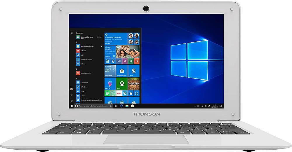thomson neo 10 1 laptop intel atom 4gb memory 64gb emmc white