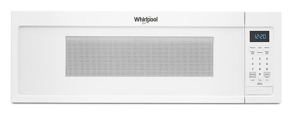 whirlpool 1 1 cu ft low profile over the range microwave hood with 2 speed vent white