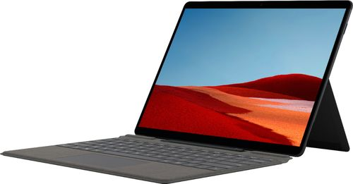 """Microsoft - Surface Pro X - 13"""" Touch-Screen - MS SQ2 - 16GB Memory - 256GB SSD - Wi-Fi + 4G LTE - Device Only (Latest Model) - Matte Black"""
