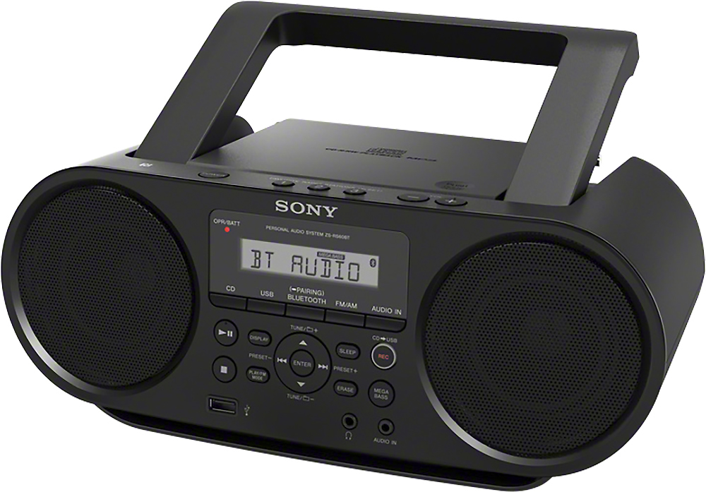 sony cd boombox black