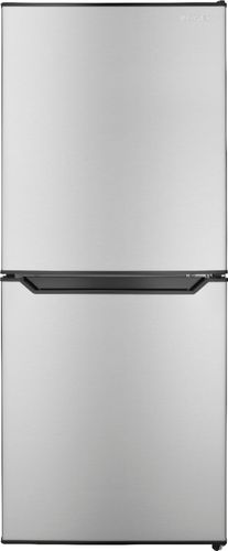 Insignia™ - 4.9 Cu. Ft. Mini Fridge with Bottom Freezer - Stainless steel