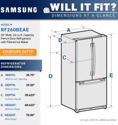 ft french door refrigerator with filtered ice maker stainless steel rf260beaesr best buy [ 1000 x 1000 Pixel ]