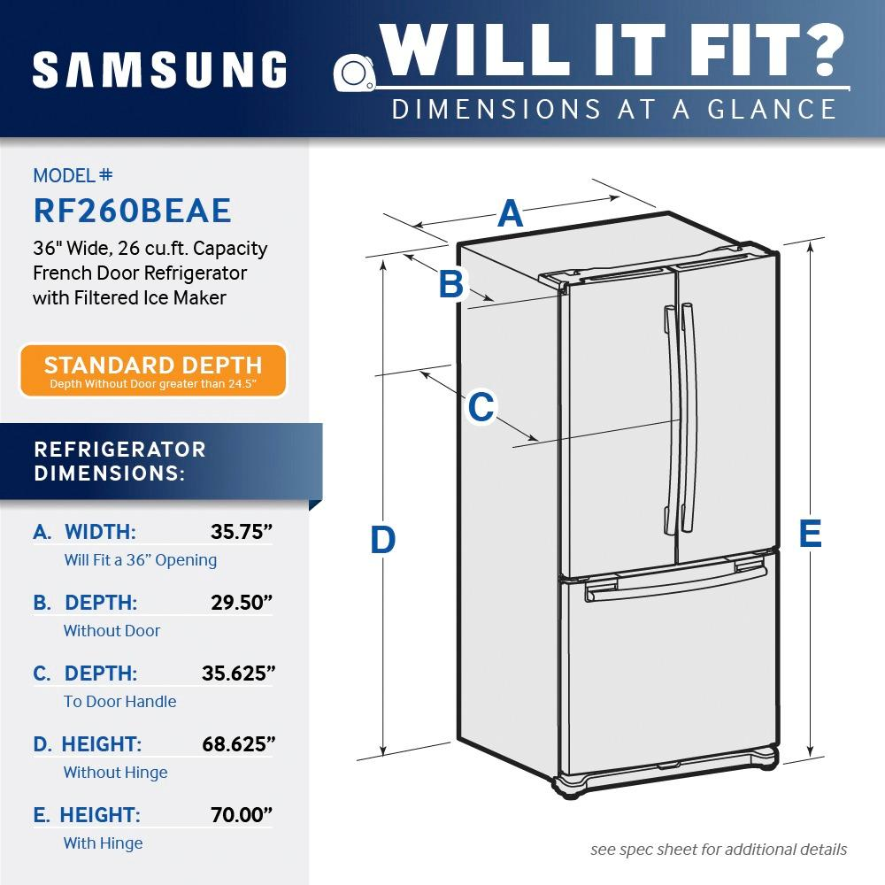 hight resolution of ft french door refrigerator with filtered ice maker stainless steel rf260beaesr best buy