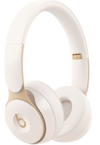 Beats by Dr. Dre - Geek Squad Certified Refurbished Solo Pro Wireless Noise Cancelling On-Ear Headphones - Ivory