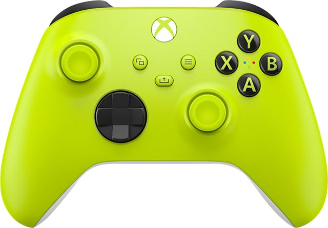 Microsoft - Controller for Xbox Series X, Xbox Series S, and Xbox One  (Latest Model) - Electric Volt