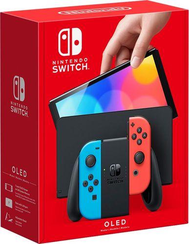 Nintendo Switch (OLED model) w/ Neon Red & Neon Blue Joy-Con - Neon Red/Neon Blue