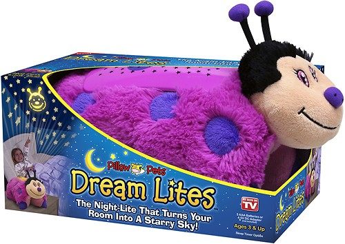 dream lites by pillow pets ladybug hot pink