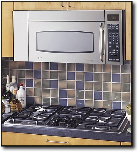 ge profile spacemaker 1 8 cu ft over the range microwave stainless steel