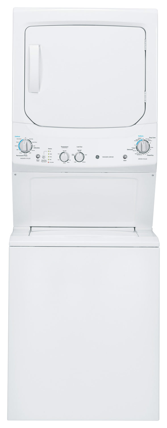 GE Unitized Spacemaker 3.2 Cu. Ft. 11-Cycle Washer and 5.9
