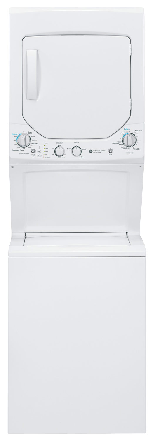 GE Unitized Spacemaker 2.0 Cu. Ft. 12-Cycle Washer and 4.4