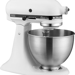 White Kitchen Aid Inexpensive Decor Kitchenaid Ksm75wh Classic Stand Mixer Best Buy Multi Angle Zoom