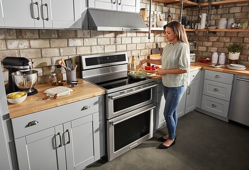 KitchenAid Double Oven Electric Freestanding Range