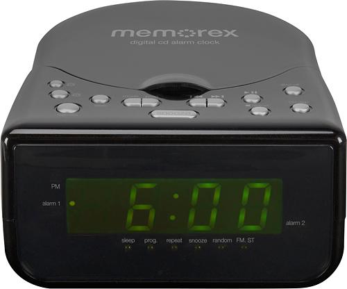 Memorex MA43 Dual Alarm Clock Radio MA4324-A Black Standard Packaging