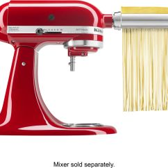 Kitchen Aid Attachments Cabinet Wood Kitchenaid Ksmpra Pasta Roller For Most Stand Mixers Stainless Steel