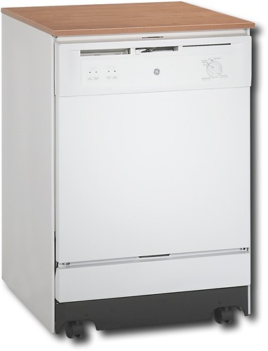 Best Buy Ge 24 7 8 Convertible Portable Dishwasher White On White Gsc3500nww