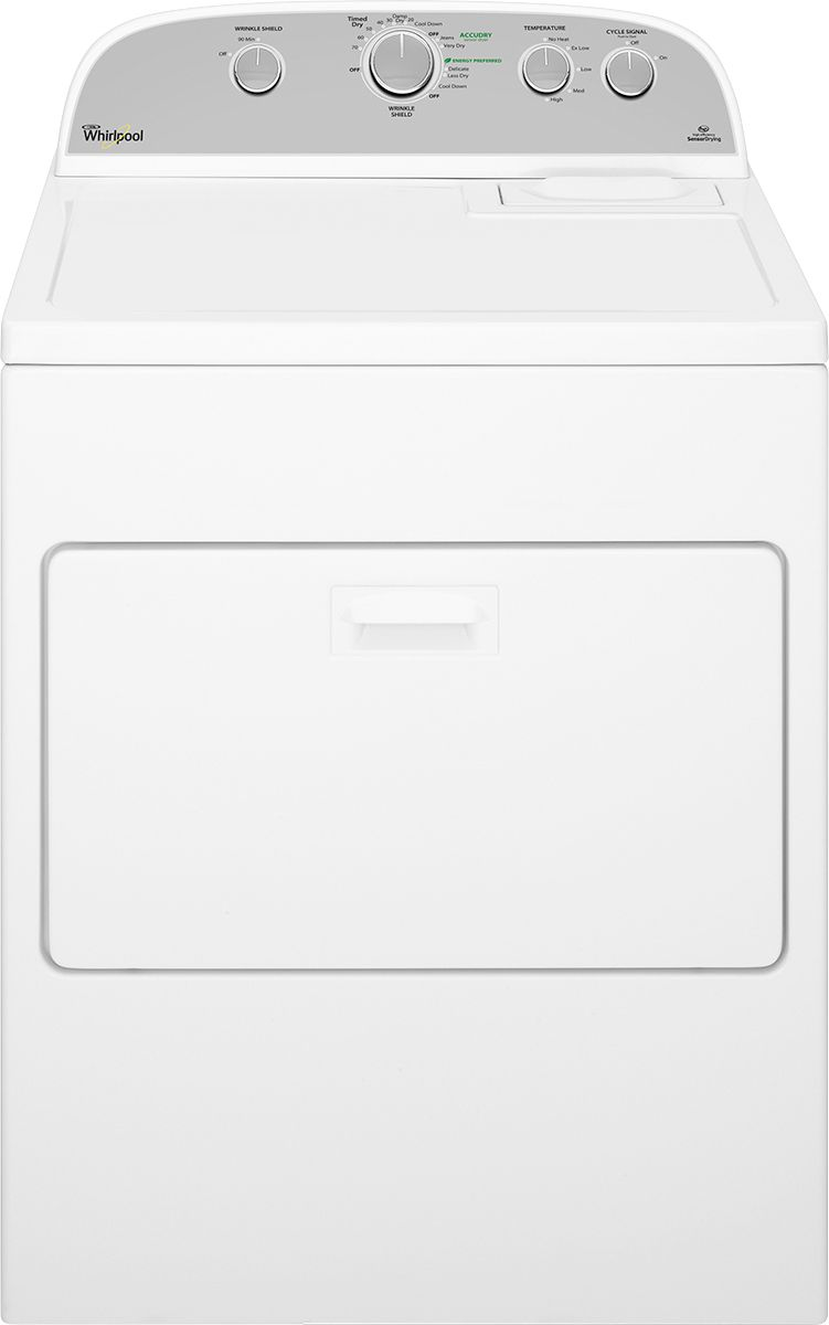 hight resolution of whirlpool cabrio 7 0 cu ft 13 cycle electric dryer white wed5000dw best buy