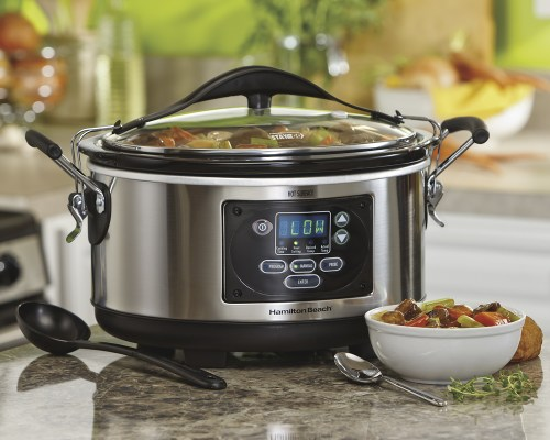 small resolution of best buy hamilton beach set forget stay or go 6 quart slow cooker metallic 33967