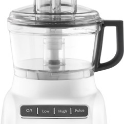 Best Buy Kitchen Aid Antique Blue Cabinets Kitchenaid Kfp0711wh 7 Cup Food Processor White Front Standard