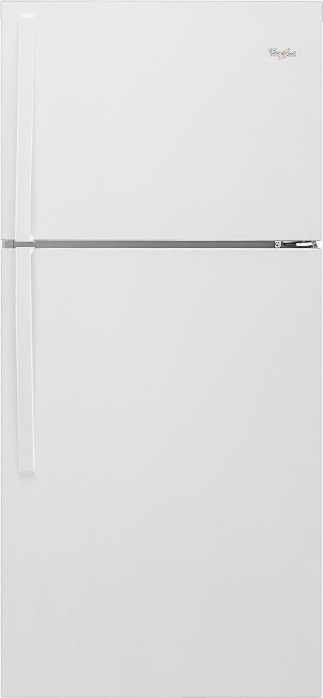 medium resolution of whirlpool 19 3 cu ft top freezer refrigerator white wrt519szdw best buy