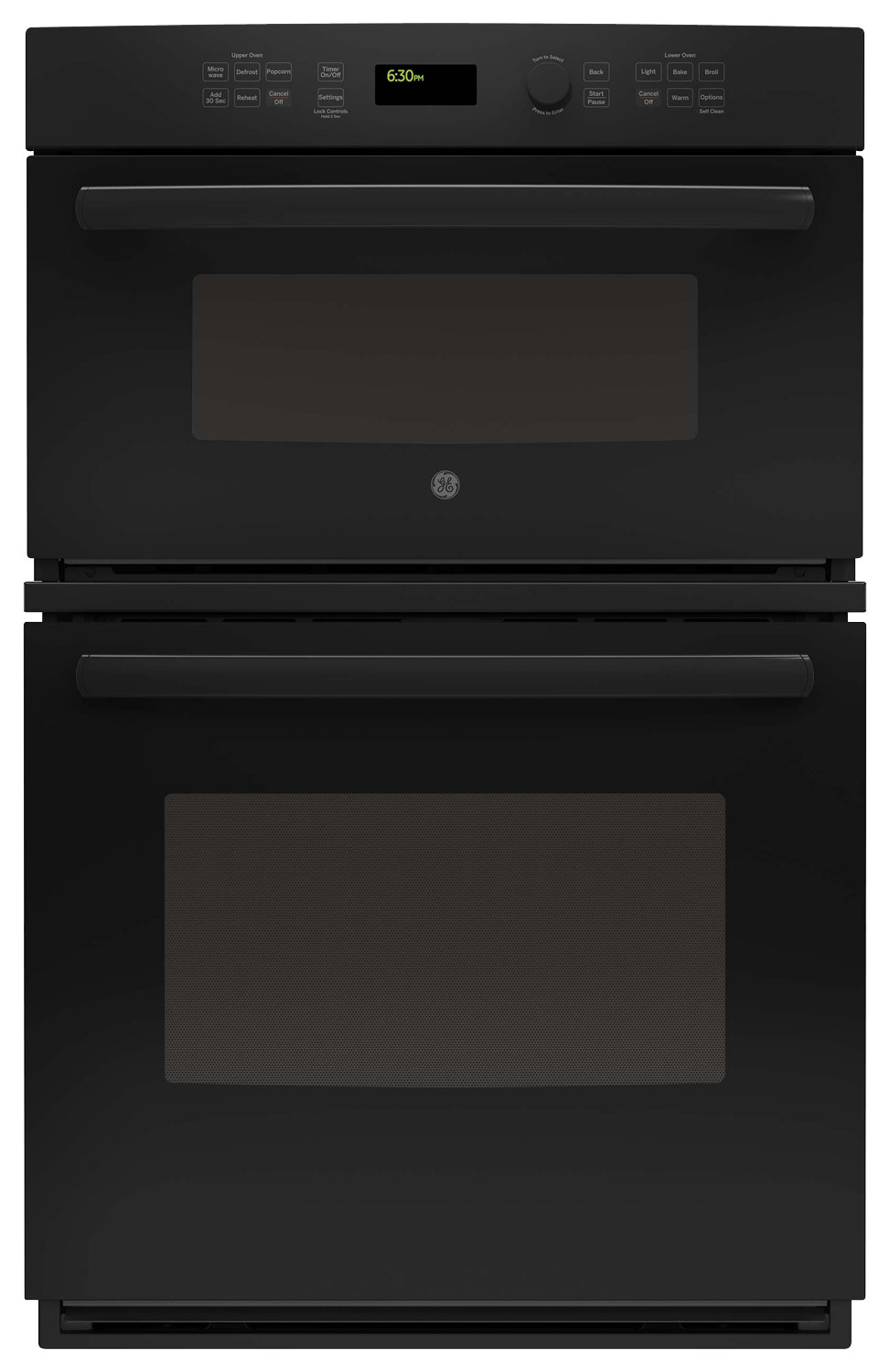 ge 27 single electric wall oven with built in microwave black on black