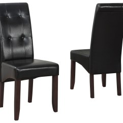 Parson Chair Covers Walmart Special Tomato Height Right Simpli Home Cosmopolitan Chairs Pair Black Ws5109