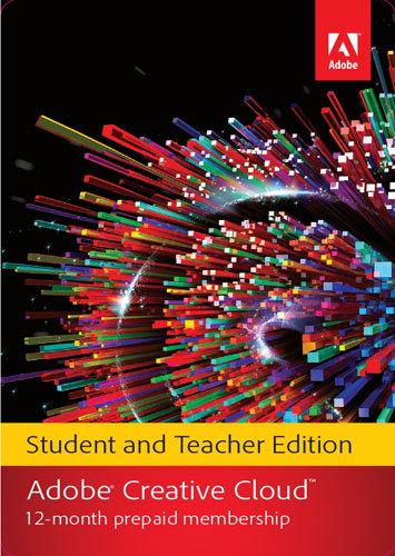 Adobe - Creative Cloud Student and Teacher Edition (1-Year Prepaid Subscription Card) - Mac, Windows