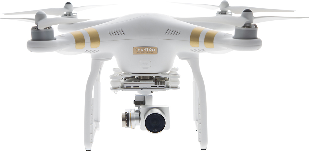 DJI - Phantom 3 Professional Quadcopter - White - Front Zoom