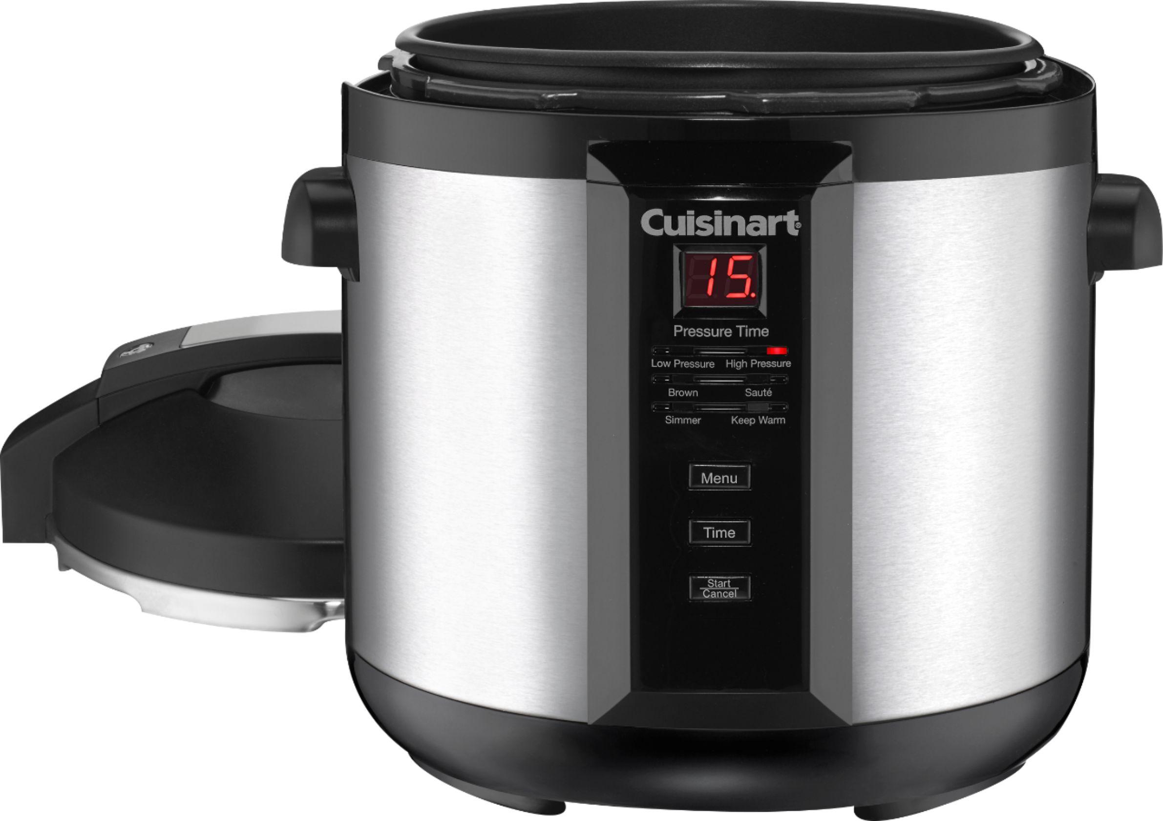 cuisinart 6qt digital pressure cooker brushed stainless steel