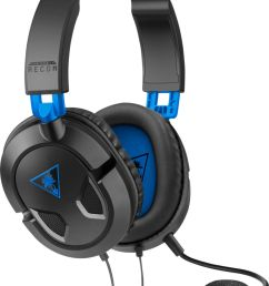 turtle beach recon 50p wired stereo gaming headset black blue tbs 3303 01 best buy [ 1009 x 1347 Pixel ]