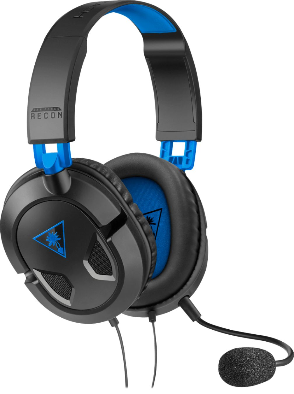 hight resolution of turtle beach recon 50p wired stereo gaming headset black blue tbs 3303 01 best buy