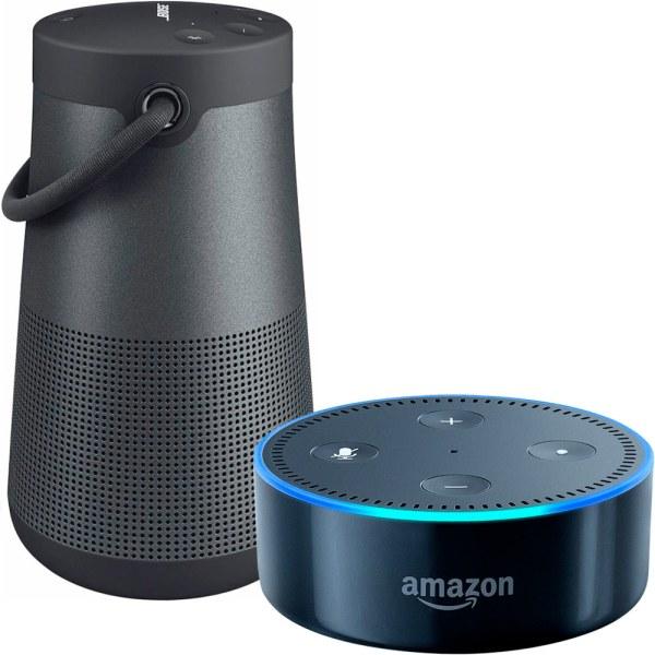 Bose Soundlink Revolve Bluetooth Speaker & Echo Dot 2nd Generation Black