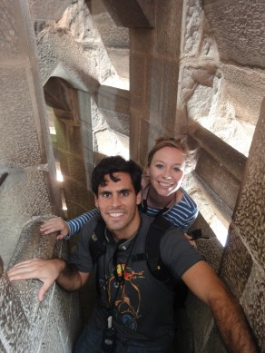 in one of the Sagrada Familia towers