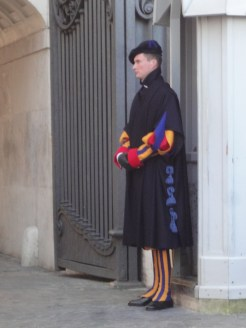 Swiss guard in the Vatican