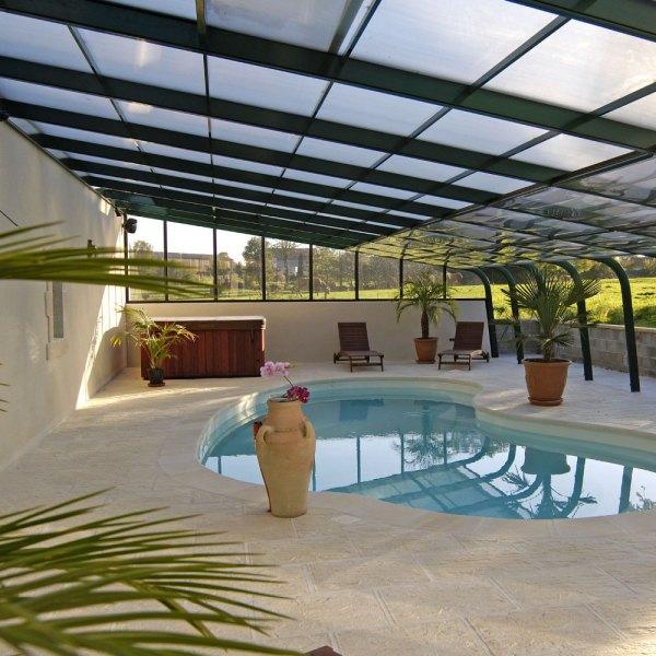 Abri de piscine adossé Aquadiscount