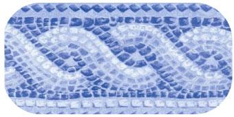 Frise de piscine Pompei bleu