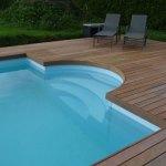 Escalier roman 2,50m pour piscine Aquadiscount