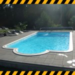 Destockage piscine rectangulaire angles arrondis