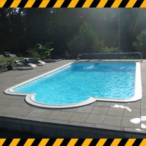 Destockage piscine rectangulaire angles arrondis
