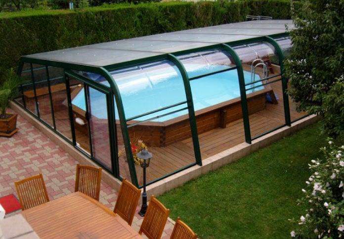 Abri asymétrique piscine