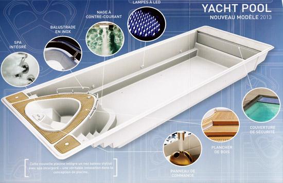 La Piscine Avec Spa Intgr Yacht Pool Nouveaut 2013