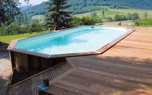 piscine bois semi enterree conseil