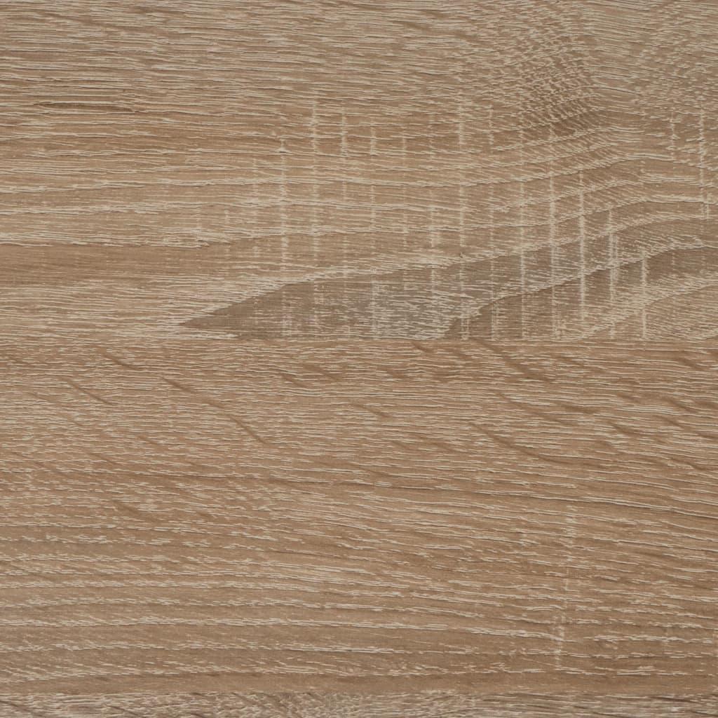 FMD Măsuță de cafea cu rotile, lemn de stejar