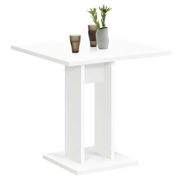 FMD Masă de bucătărie, alb, 70 cm