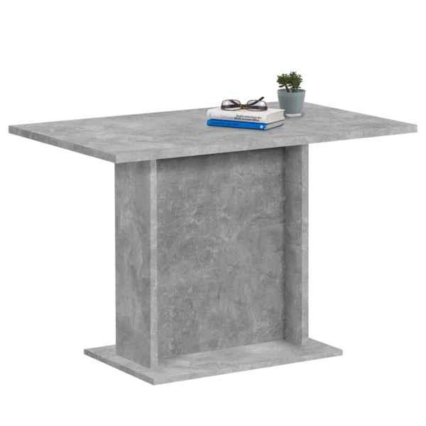 FMD Masă de bucătărie, gri beton, 110 cm